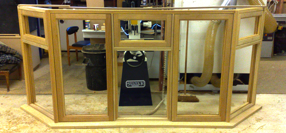 Hand-made wooden window frame